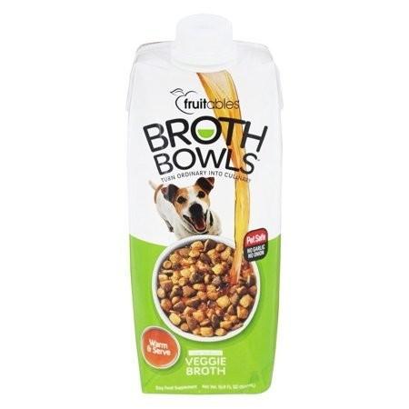 **BOGO** Fruitables Broth Bowls Veggie Dog Supplement Tub 16.9 oz (10/19) (O.F3/F4/F5/G4/G4/G5/AM50)