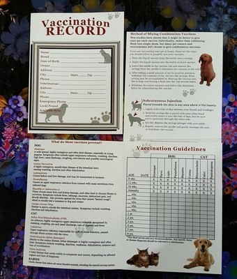 Vaccination Record Pamphlet
