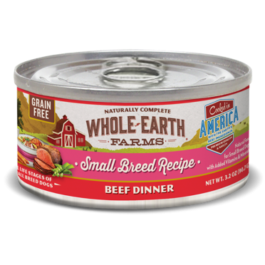 >>LAST CHANCE BOGO CLOSEOUT<< Merrick Whole Earth Farms GF Small Breed Beef Stew for Dogs 3.2 oz 24 count (1/19 AND/OR 2/19) **Buy 1 Get 2, Buy 2 Get 4, Buy 3 Get 6, Etc.