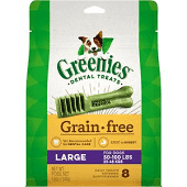 GREENIES DENTAL TREATS GF LARGE 50-100 LBS. 8 COUNT 12 OZ (7/21)
