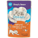 PURINA MUSE CREATABLES SIMPLY SAUCE NATURAL CHICKEN GRAVY WITH CARROTS LICKABLE CAT TREAT 1.4 OZ 14 POUCHES (9/19) (A.L3)