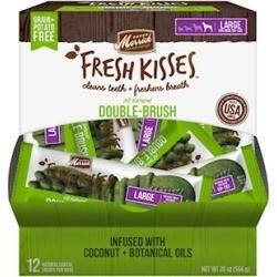 **BOGO** Merrick Fresh Kisses Grain Free Coconut Oil & Botanicals Large Dog Treat Box 20 oz 12 count (04/19)