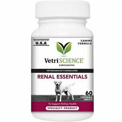 **BOGO CLOSEOUT** VetriScience Renal Essentials Kidney Health Support Dog Supplement, 60 Ct (12/18) (O.H2/H3/H4/H5)