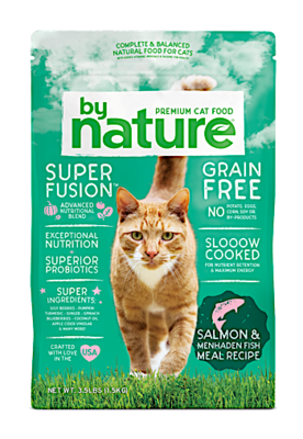 **BOGO CLOSEOUT** ONLY 40 CENTS PER POUND **  By Nature Salmon & Whitefish Meal Recipe Cat Food 20 lbs (10/19) NOTE:  Newly formulated food direct from the manufacturer comes in White Bags