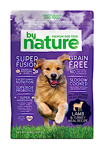 By Nature Lamb & Turkey Meal Recipe Dog Food 40 Pound Bag (10/19)  NOTE:  Newly formulated food direct from manufacturer comes in White Bags