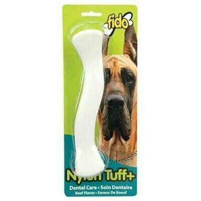 "Fido, Nylon Tuff Plus Dental Dog Bone, Beef Flavored, Large 8-3/4"""