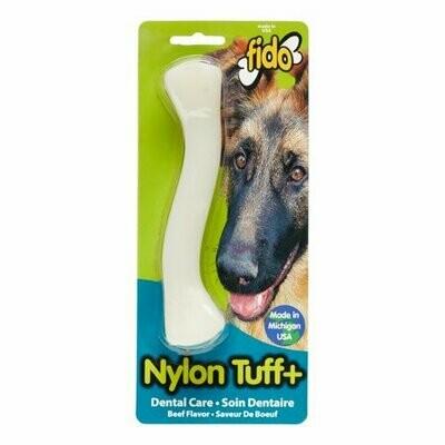 "Fido, Nylon Tuff Plus Dental Bone, beef Flavored, Medium 6-1/4"""