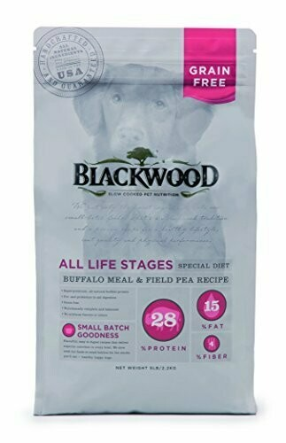 Blackwood Pet Food Buffalo Meal & Field Pea Dry Dog Food 30 LBS