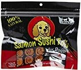 Natural Wild Pacific Salmon Sushi Rolls Dried Gourmet Dog Treat 36g (N/D) (T.G4)