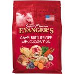 EVANGERS GAME BIRD RECIPE WITH COCONUT OIL DUCK & TURKEY, SP, LENTILS & BROWN RICE DOG FOOD 30 LBS)