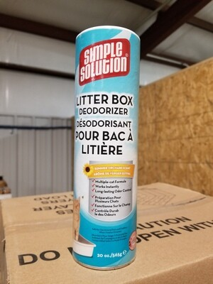 **BOGO** SIMPLE SOLUTIONS LITTER BOX DEODORIZER 20 OZ 1 COUNT