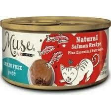 Purina Muse infused grain free pate natural ocean white fish recipe adult cat food 3 ounce 24 counts (5/20)