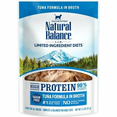**SALE** Natural balance limited ingredients high-protein tuna formula in broth for cats adult cats 2.5 ounces 24 counts (10/19)