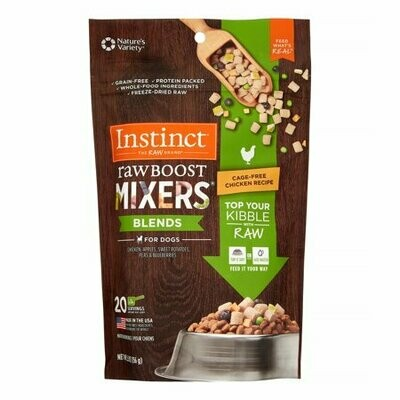 Nature's variety instinct raw boost mixer blends for dogs chicken apples sweet potatoes peas and blueberries 20 servings for dogs cage-free chicken recipe (4/20)