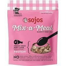 SOJOS mix meal approximately 20 quarter cup servings freeze-dried Lamb 8 ounces natural dog food (1/20)