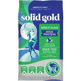 SOLID GOLD BARKING AT THE MOON HIGH PROTEIN DUCK, EGG & PEA RECIPE GRAIN-FREE DRY DOG FOOD 4 LB (11/19)
