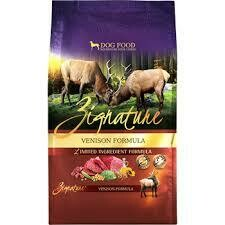 ZIGNATURE VENISON LIMITED INGREDIENT FORMULA DRY DOG FOOD 13.5 LBS (11/20)