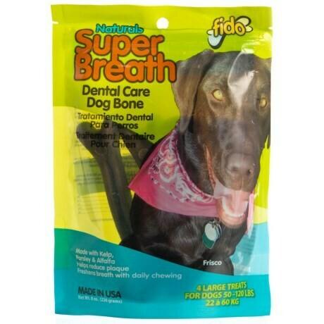 Fido Super Breath Dental Care Dog Bone Large 4 count (2/19)