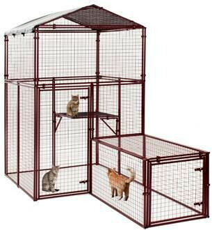 **NEW** ONLY 1 Available - Small Animal House, Cattery, Birds, Etc. **Requires Assembly** Pictures Are Examples of Various Potential Configurations