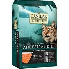 CANIDAE Grain Free PURE Ancestral Diet Salmon Dry Cat Food, 5 lbs. (6/20)