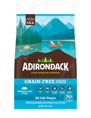 Adirondack All Life Stages Whitefish & Peas Dry Dog Food 25 LBS (4/20)