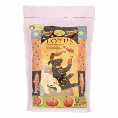 Lotus Wholesome Chicken Recipe for Puppies Dry Dog Food 5 lbs (7/20)