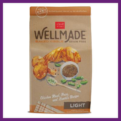 Wellmade Grain-Free Light Adult Baked Dog Food 4.5 lbs (4/20)