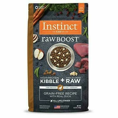 Instinct Raw Boost Grain-Free Recipe with Real Duck Dry Dog Food with Freeze-Dried 4 lbs. (3/20)