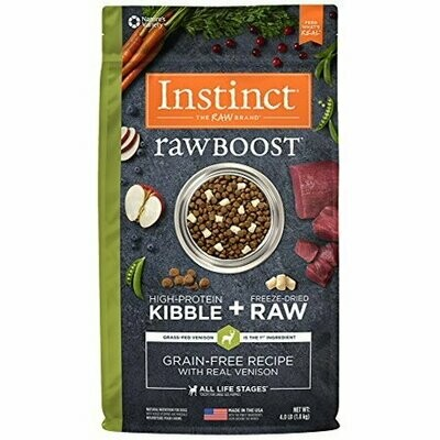 Instinct Raw Boost Grain-Free Recipe with Real Venison Natural Dry Dog Food 4 lbs (5/20)