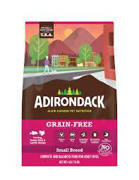 ADIRONDACK GRAIN-FREE HERRING & TURKEY SMALL BREED DRY DOG FOOD 12 LBS (4/20)