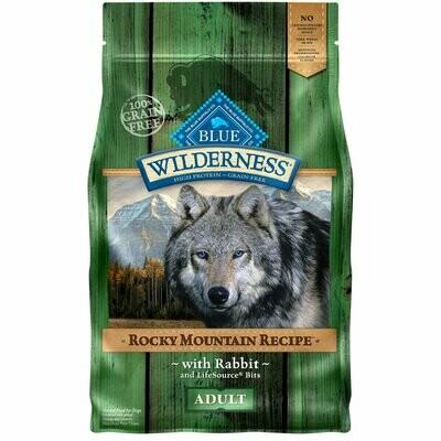 BLUE BUFFALO WILDERNESS ROCKY MOUNTAIN RECIPE RABBIT ADULT DOG FOOD 4 LBS (3/20)