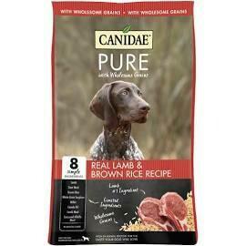 CANIDAE PURE REAL LAMB & BROWN RICE RECIPE DOG FOOD 4 LBS (7/21)