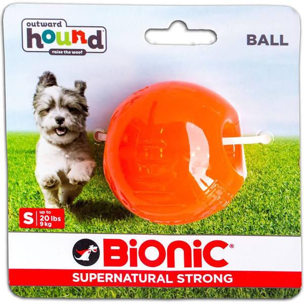OUTWARD HOUND BIONIC BALL DOG TOY, MEDIUM, ORANGE