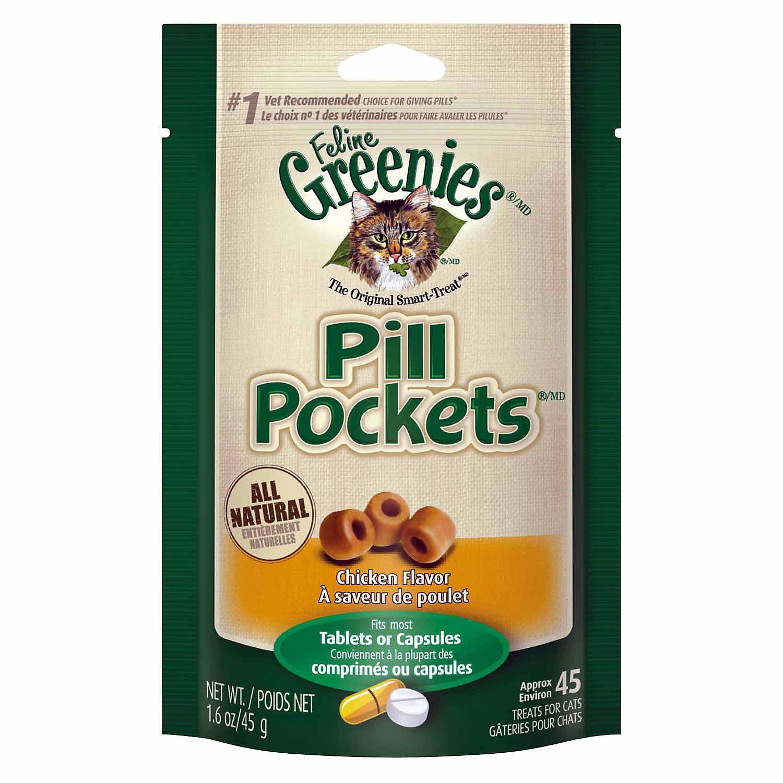 Greenies Chicken Feline Pill Pockets (1.6 oz) (7/18) (T.C4/C5) **Bulk Discounts Available**