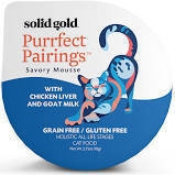 Solid Gold Purrfect Pairings Savory Mousse with Chicken & Goat Milk Grain-Free Cat Food Cups, 2.75 oz. 6 cups (8/18) (A.K3)