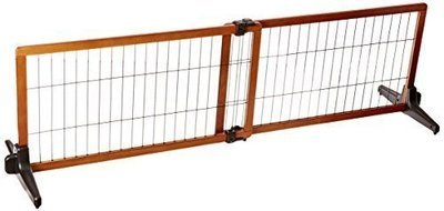 **ONLY 1 LEFT** Carlson 68-Inch Wide Adjustable Freestanding Pet Gate, Premium Wood