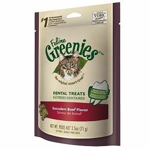 Feline Greenies Dental Treats, Succulent Beef, 2.5 oz. (1/19)  (T.C14) **CLICK HERE TO BUY MORE SAVE MORE**