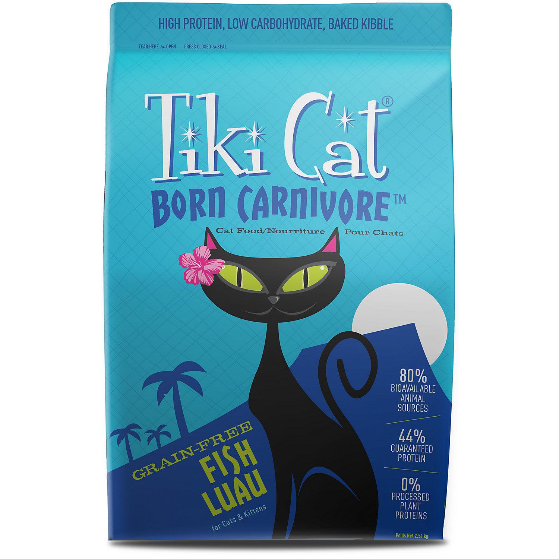 Tiki Cat Born Carnivore Fish Luau Dry Cat Food, 2.8 lbs (3/19)  (A.J1)