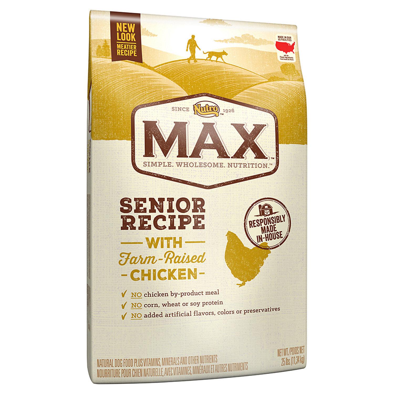 Nutro Max Senior With Farm Raised Chicken Dry Dog Food, 25 Lbs  (11/18) (A.M6)