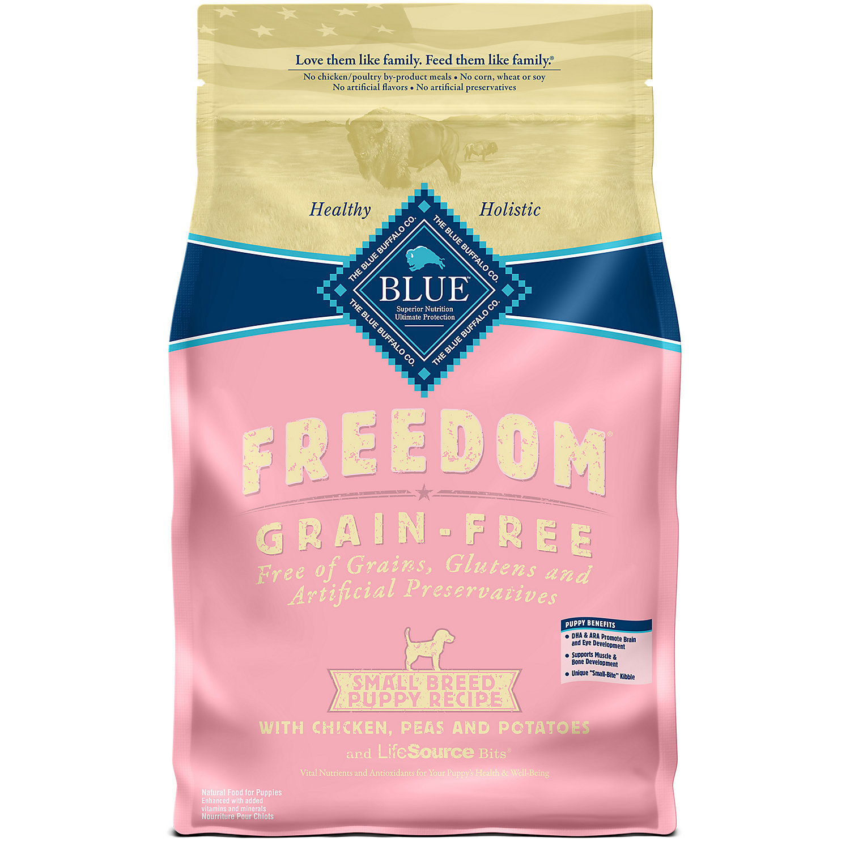 Blue Buffalo Freedom Grain Free Chicken Recipe Small Breed Puppy Food, 11 lbs.