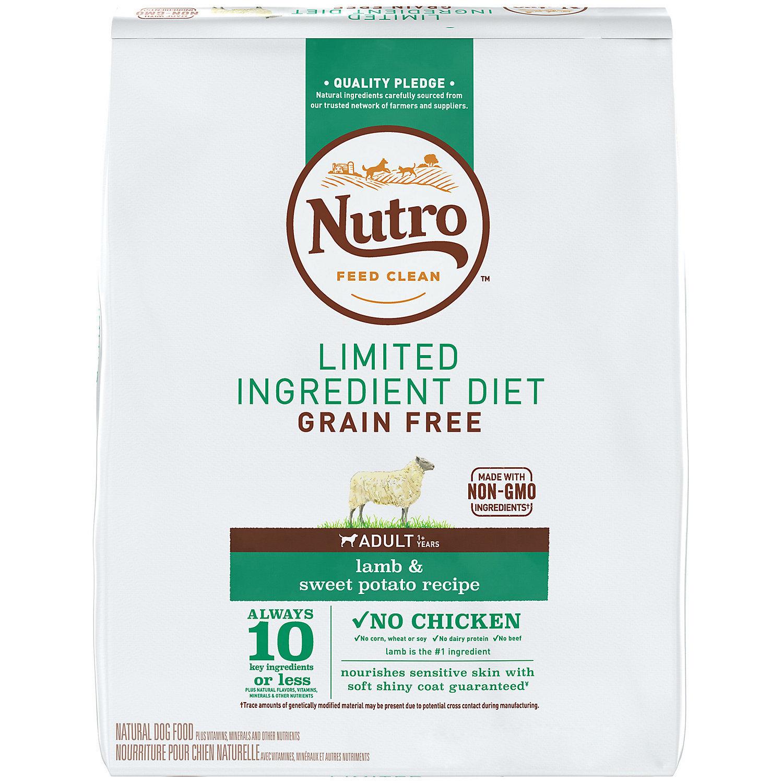 Nutro Limited Ingredient Diet Adult Lamb & Sweet Potato Dog Food Recipe, 4 Lbs. (1/19) (A.I1)
