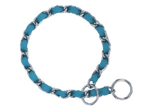 """Nylon Webbing Fashion Choke Chain 14"""" X 2.5mm Turquoise (RPAL137/AM3)"""