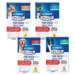 Adams Plus Flea And Tick Control For Dogs 3 Month Refill Pack 31 - 60#  (No Applicator) **May Ship Out of Box**