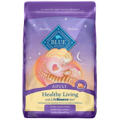 **BOGO CLOSEOUT**  Blue Buffalo Healthy Living Chicken & Brown Rice Adult Cat Food, 3 lbs. (12/19)