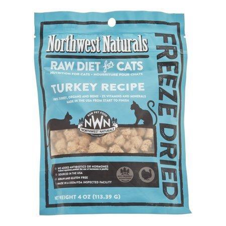 NW Naturals Raw Diet Grain-Free Turkey Freeze Dried Cat Treats, 4 Oz (1/19) (T.D1)