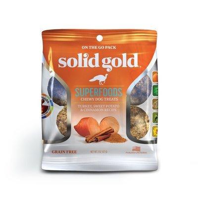 5 FUR $.49 Solid Gold Grain Free Turkey, Sweet Potato & Cinnamon Natural Dog treats 2 oz (2/19)