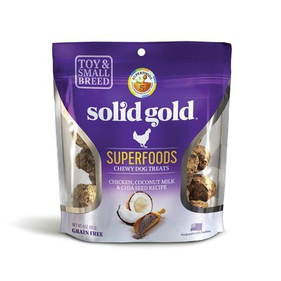 5 FUR $.75 Solid Gold Grain Free Chicken, Coconut Milk & Chia Seed Small & Toy Breed Treats 4 oz. (2/19)  **Buy 1 Get 5, Buy 2 Get 10, Buy 3 Get 15 etc. etc.**