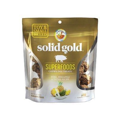 5 FUR $.75 Solid Gold Grain Free Pork, Pineapple & Thyme Small & Toy Breed Dog Treats 4 oz. (2/19)  **Buy 1 Get 5, Buy 2 Get 10, Buy 3 Get 15 etc. etc.**