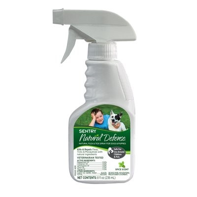 Sentry Natural Defense Flea & Tick Dog Spray & Puppies (8 fl. oz.) (O.G3/PR)