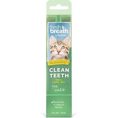 TropiClean Fresh Breath Clean Teeth Gel for CATS 2 fl. oz.